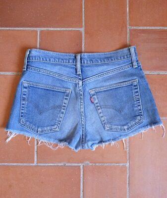 levis high waisted denim shorts 525 1 back