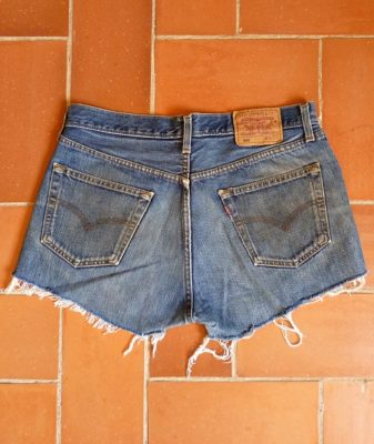 levis high waisted denim shorts 8 back