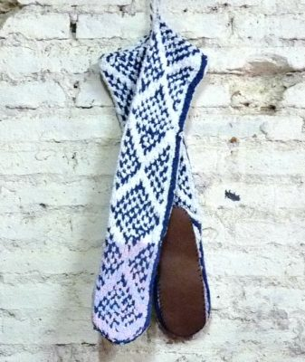 boho slipper socks small 8