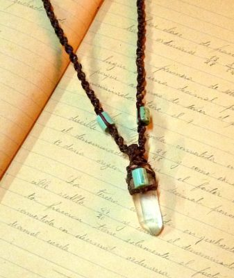boho crystal necklace 2