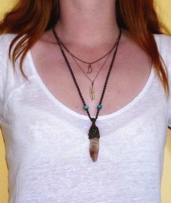 boho crystal necklace style 444