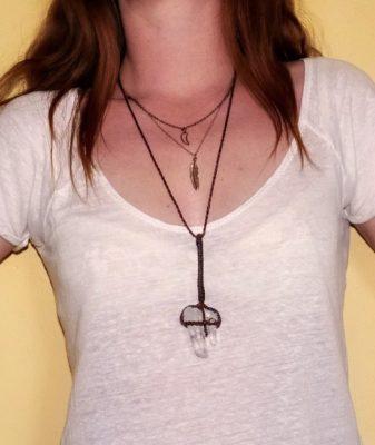 boho crystal necklace style 55