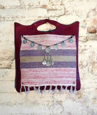 upcycled boho bag vintage red 1