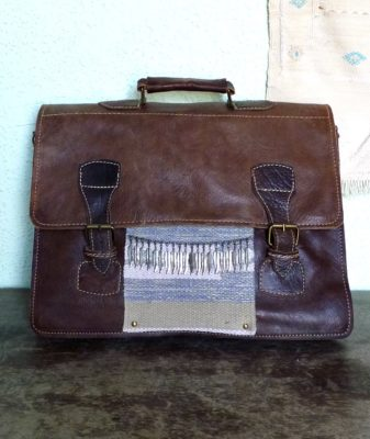 upcycled boho bag vintage satchel 1