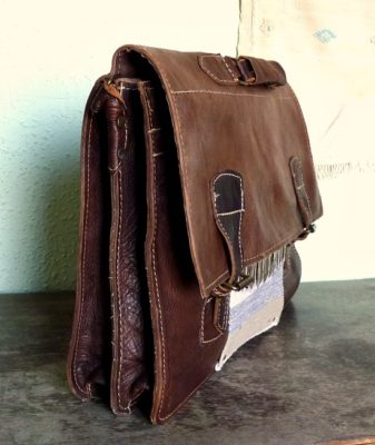 upcycled boho bag vintage satchel 2