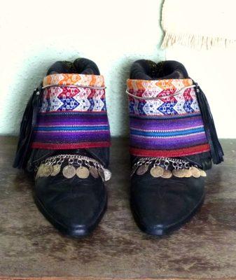upcycled boho boots vintage black 1
