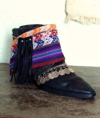 upcycled boho boots vintage black 4