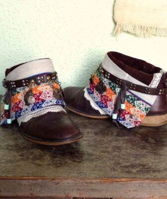 upcycled boho boots vintage short 2