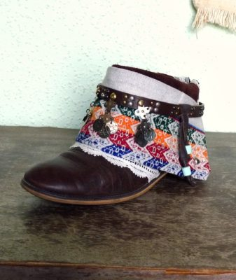 upcycled boho boots vintage short 4