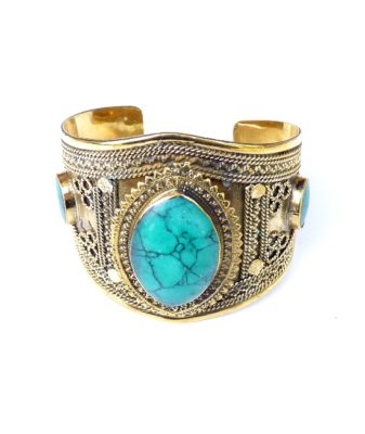 vintage boho bangle turquoise 243