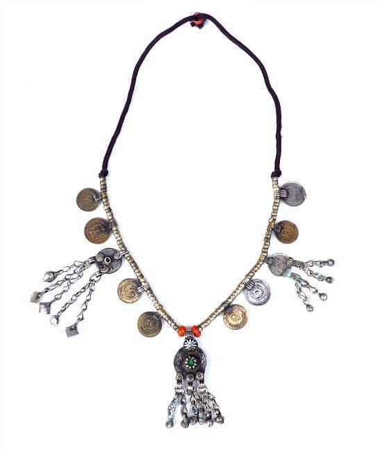 vintage boho coin necklace 7545