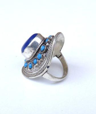 vintage boho hippie ring lapis lazuli 458