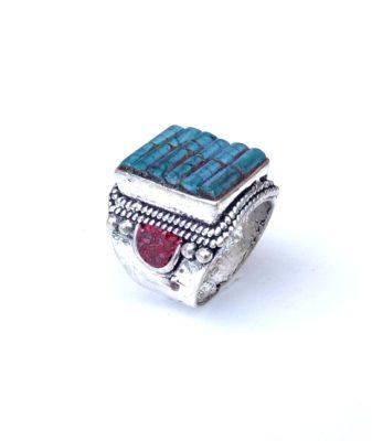 vintage boho ring turquoise hgjb