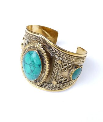 vintage boho turquoise bangle 24476