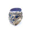 vintage chunky hippie ring lapis lazuli 123