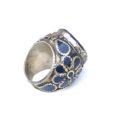 vintage chunky hippie ring lapis lazuli 134