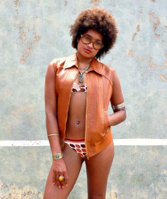 70s vintage leather waistcoat 1