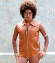 70s vintage leather waistcoat 3
