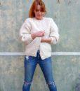 vintage cardigan cream 5