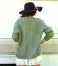 vintage cardigan green 1