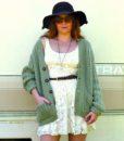 vintage cardigan green 5