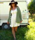 vintage cardigan green 7