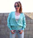 vintage cardigan mint 2