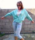 vintage cardigan mint 3