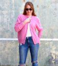 vintage cardigan pink 1
