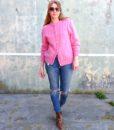 vintage cardigan pink 3