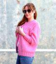 vintage cardigan pink 5