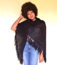 vintage 70s shawl black 11