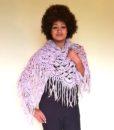 vintage 70s shawl mauve