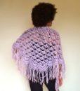 vintage 70s shawl mauve 231