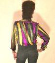 vintage 80s blouse tricolour 33