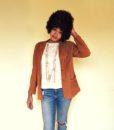 vintage 80s suede jacket 111