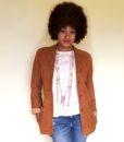 vintage 80s suede jacket