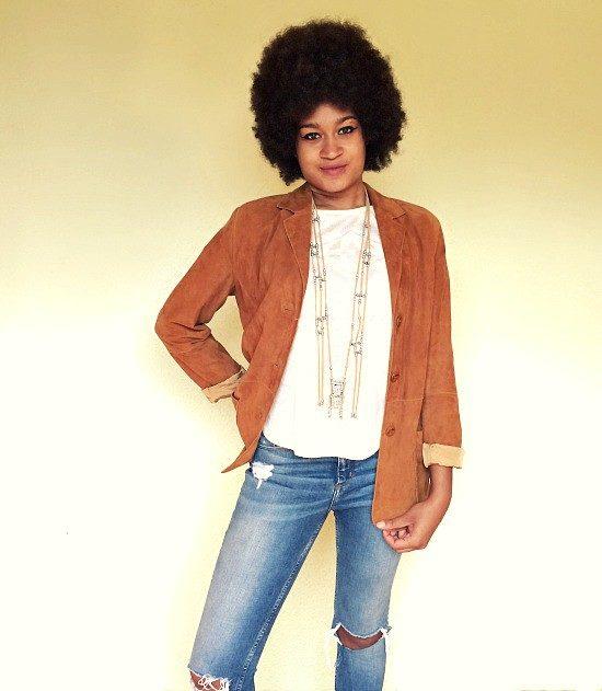 vintage 80s suede jacket 1c