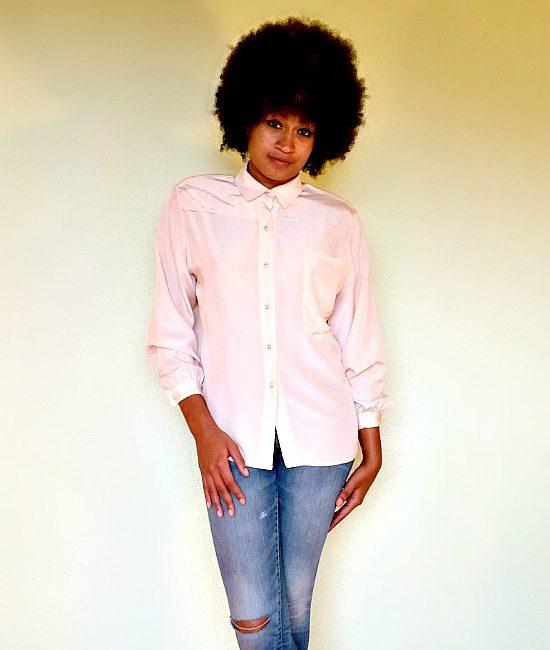 vintage satin blouse 1