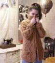 70s vintage chunky cable knit cardigan 11