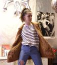 70s vintage chunky cable knit cardigan 5