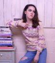 70s vintage lilac knit jumper 1