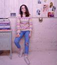 70s vintage lilac knit jumper 5