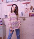 70s vintage lilac knit jumper 6