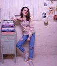 70s vintage lilac knit jumper large