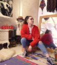 70s vintage loop knit cardigan 3