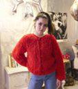 70s vintage loop knit cardigan 7