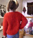 70s vintage loop knit cardigan 7-2