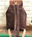 Boho leather and tribal blanket rucksack, Nador 876