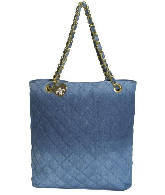 Friis Company quilted denim chain bag